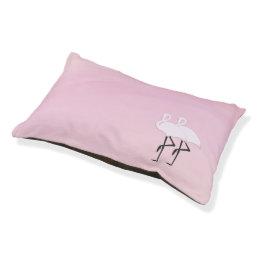 Pink Flamingos Pet Bed
