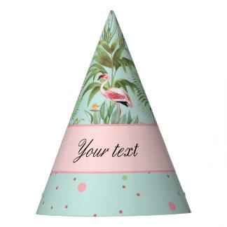 Pink Flamingos Polka Dots Party Hat