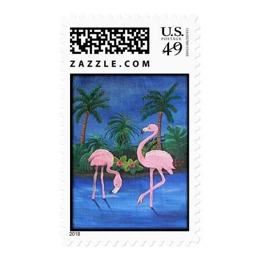 Pink Flamingos Postage Stamps
