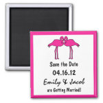 Pink Flamingos Save the Date Magnets