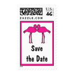 Pink Flamingos Save the Date Postage