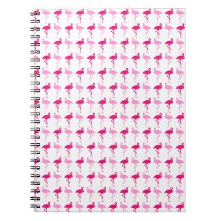 Pink Flamingos Spiral Notebook