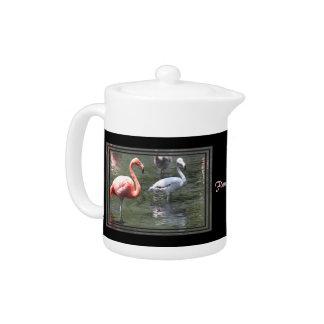 Pink Flamingos Teapot