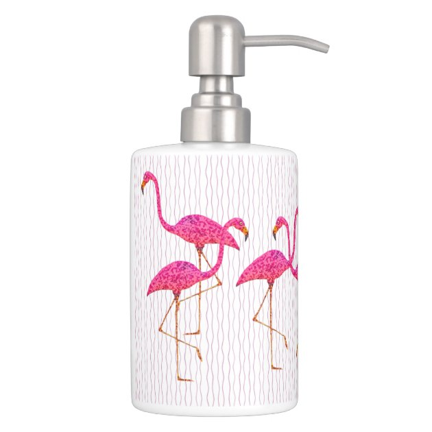 Pink Flamingos Toothbrush Soap Set Zazzle Toothbrush And Soap Coloring