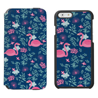Pink Flamingos & Tropical Flowers Illustration G2 iPhone 6/6s Wallet Case