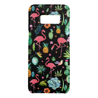 Pink Flamingos & Tropical Flowers & Succulents Case-Mate Samsung Galaxy S8 Case