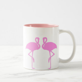 Pink Flamingos Two-Tone Coffee Mug