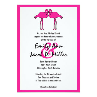 Pink Flamingos Wedding Invitations