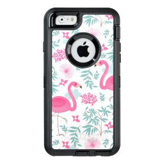 Pink Flamingos With Tropical Flowers & Leafs OtterBox iPhone 6/6s Case