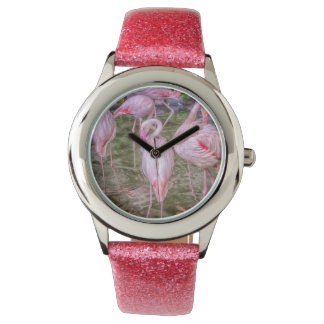 Pink Flamingos Wrist Watch