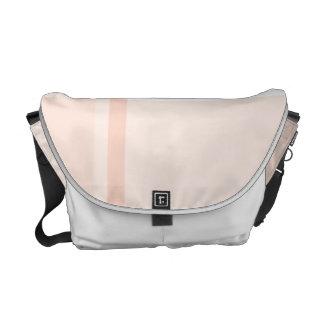 Pink Flannel Pattern Messenger Bag