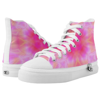 Pink Flare High-Top Sneakers