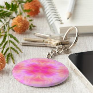 Pink Flare Keychain
