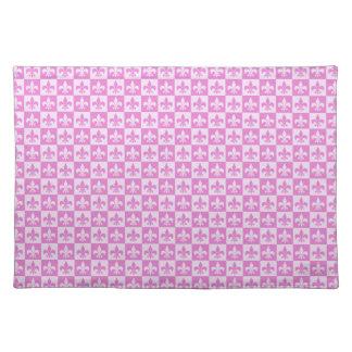 Pink Fleur de lis Cloth Placemat