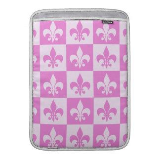 Pink Fleur de lis MacBook Sleeves