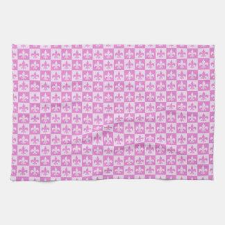 Pink Fleur de lis Kitchen Towels