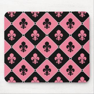 Pink Fleur de Lis Mousepad