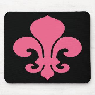 Pink Fleur de Lis Mouse Pads