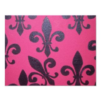 Pink fleur de lis painting announcement