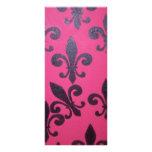 Pink fleur de lis painting rack card
