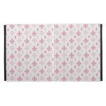 Pink Fleur de Lis Pattern iPad Folio Case