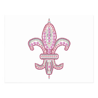 Pink Fleur de Lis Postcard