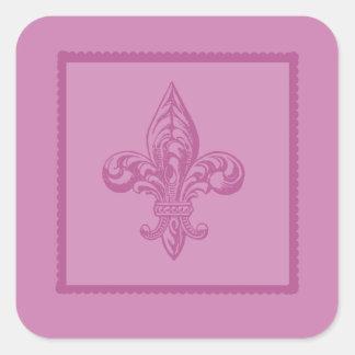 Pink Fleur De lis Sticker