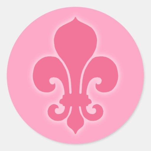 Pink Fleur De Lis Sticker Zazzle