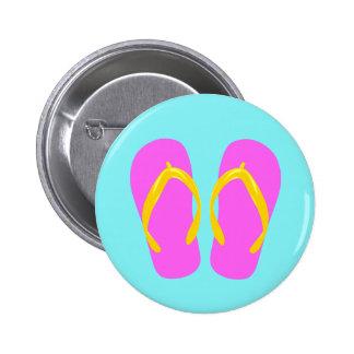 Pink Flip-Flop Pinback Buttons