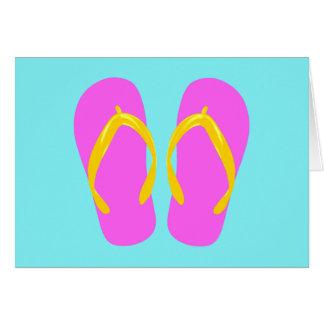 Pink Flip-Flop Card