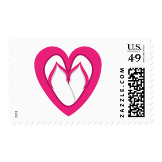 pink flip flop design 2 postage stamp