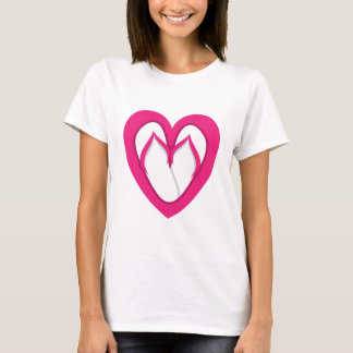 pink flip flop design 2 T-Shirt