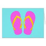 Pink Flip-Flop Greeting Cards
