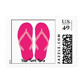 Pink Flip Flop Postage Stamp