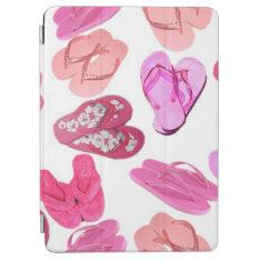 Pink Flip Flops Bg Ipad Air Cover at Zazzle
