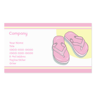 Pink Flip Flops Double-Sided Standard Business Cards (Pack Of 100)
