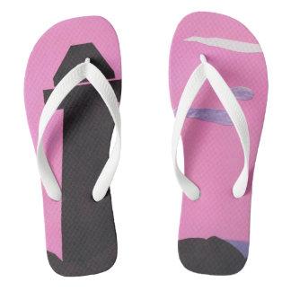 Pink Flip-flops with a Lighthouse Design Flip Flops