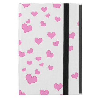 Pink Floating Hearts Background Cover