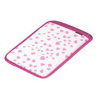 Pink Floating Hearts Background Cover iPad Sleeve
