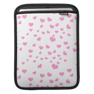Pink Floating Hearts Background Cover Sleeve For iPads