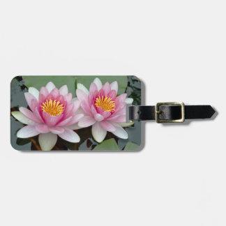 Pink Floating Waterlily Lotus Luggage Tag
