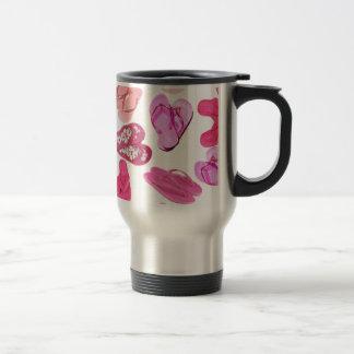 pink flops pastel pattern travel mug