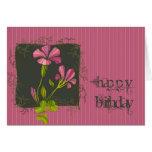 Pink Flora Birthday Card