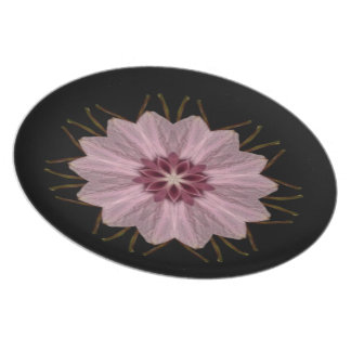 Pink Floral Abstract Plate