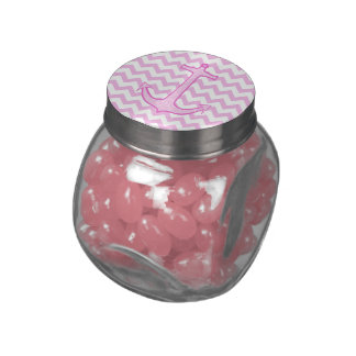Pink Floral Anchor Jelly Belly Candy Jars