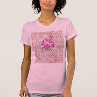 Pink Floral and Polka Dot Anchor T-Shirt