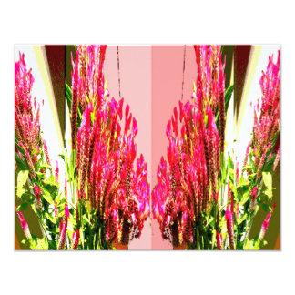 Pink Floral Arrangements 4.25x5.5 Paper Invitation Card