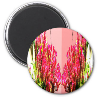 Pink Floral Arrangements Fridge Magnets