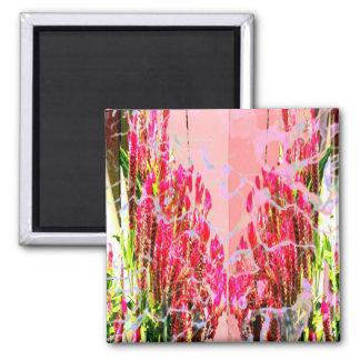 Pink Floral Arrangements Magnets