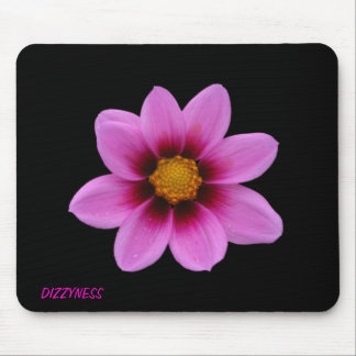 Pink Floral Art Mouse Pad